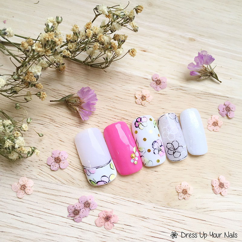 Spring Nail Flower Manicure 10