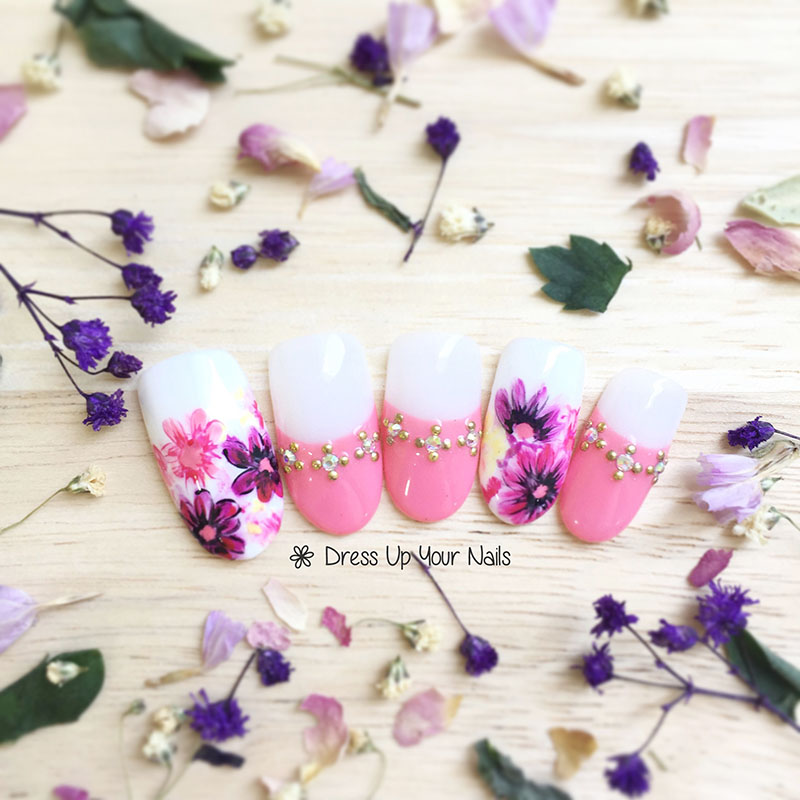 Spring Nail Flower Manicure 17