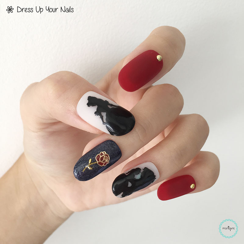 Beauty and the Beast Nail Art 4