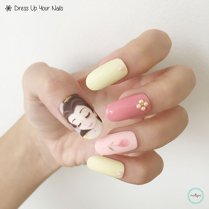 Beauty and the Beast Nail Art 2