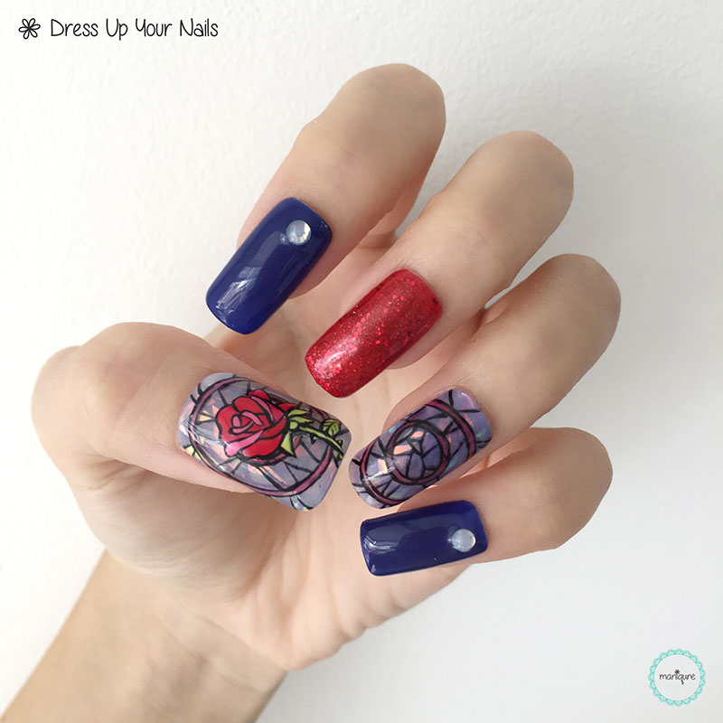 Beauty and the Beast Nail Art 3
