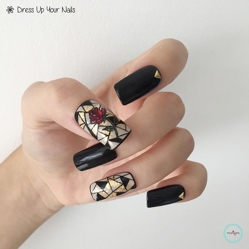 Beauty and the Beast Nail Art 1