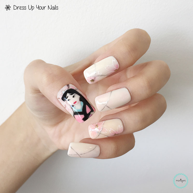 Mulan Inspired Nails: Disney Princess Nails