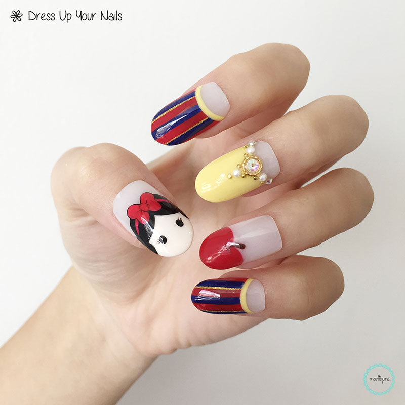 Snow White Nail Art 2