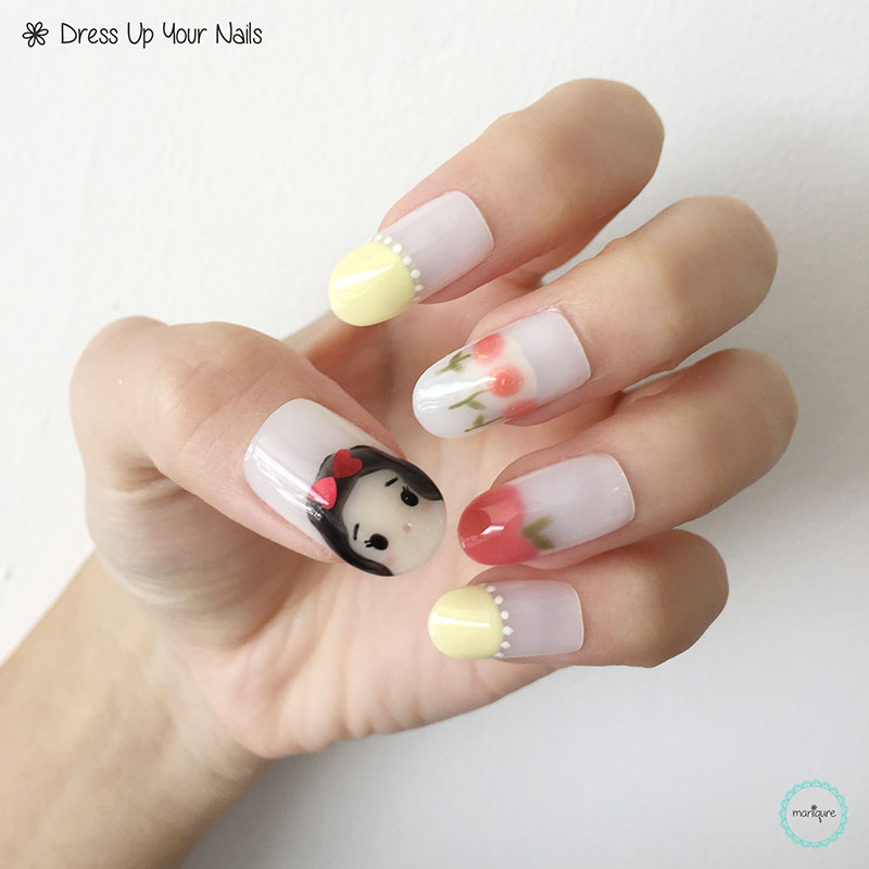 Snow White Nail Art 1