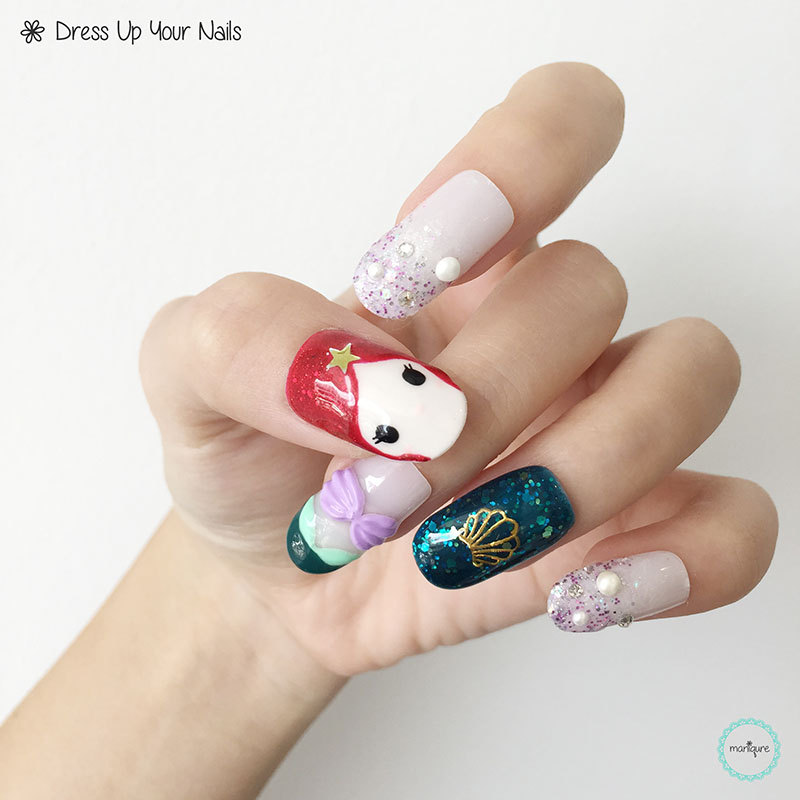 The Little Mermaid Nail Art 2