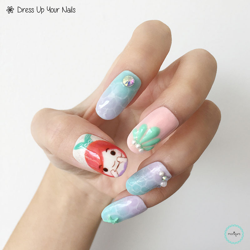 The Little Mermaid Nail Art 1