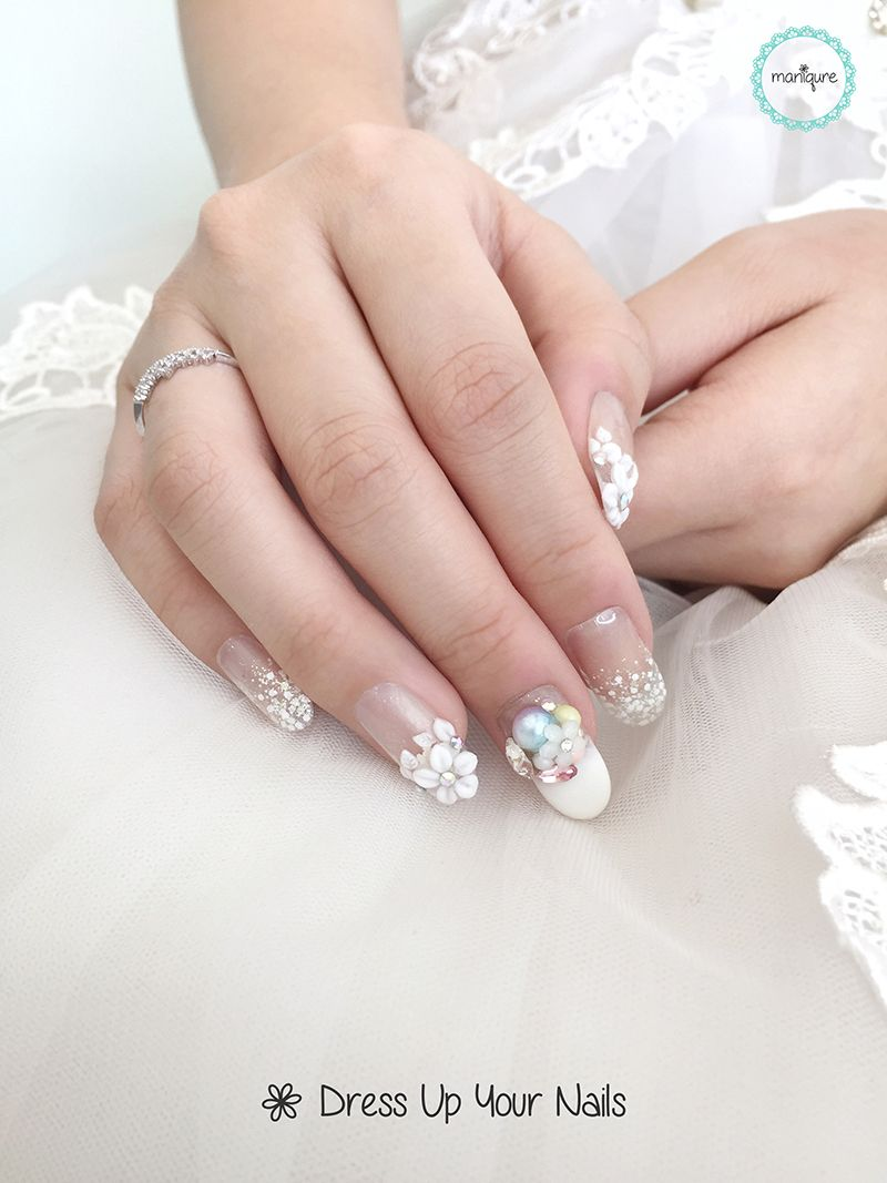 Wedding nails 2017 for bride maniqure nail salon wedding nails 2017 for bride 17 prinsesfo Images