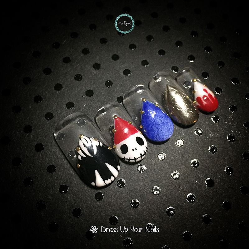 Scary Ghost Nail Art