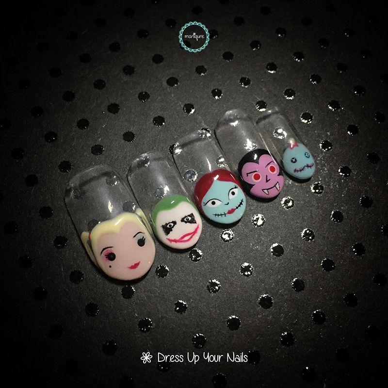 Halloween Nail Design , Maniqure Nail Salon