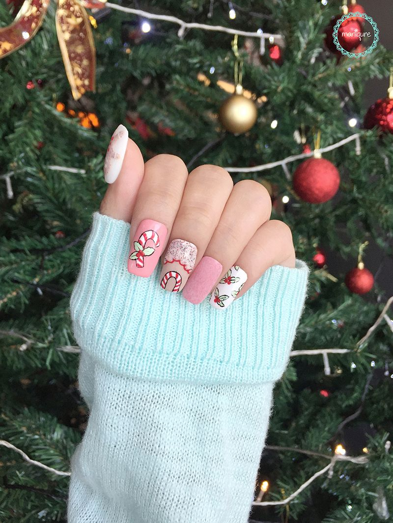Christmas Candy Nails