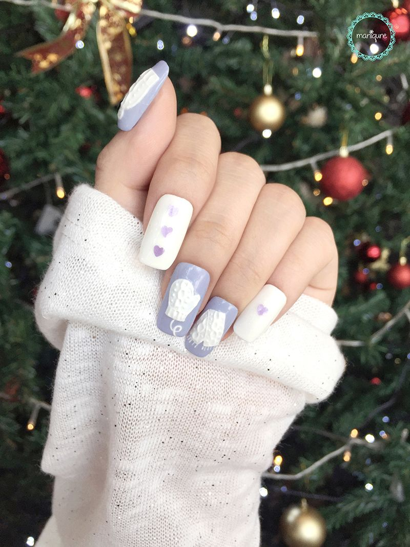 Christmas Knitted Nails