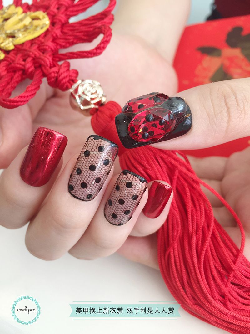 Chinese New Year Nail Art 2018 - CNY Manicure - Maniqure Nail Salon