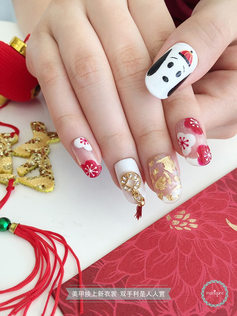 Snoopy CNY Nail Art