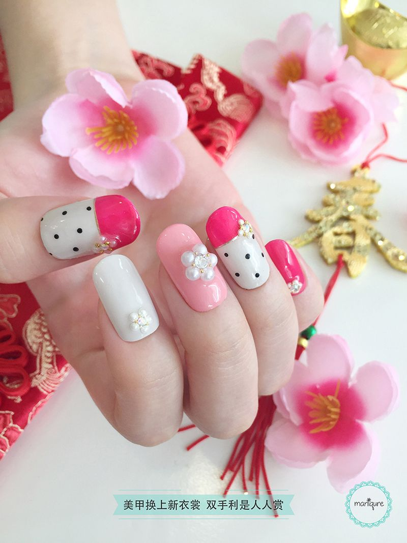 Young & Pink CNY Nail Art