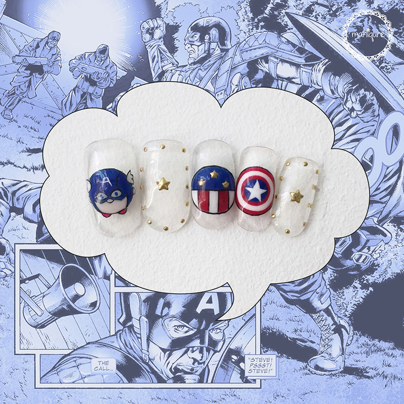 Captain America Nails 2