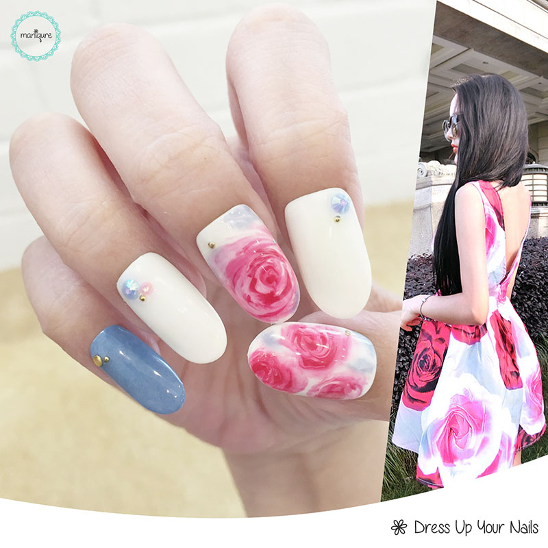 Blended Manicure Nail Art