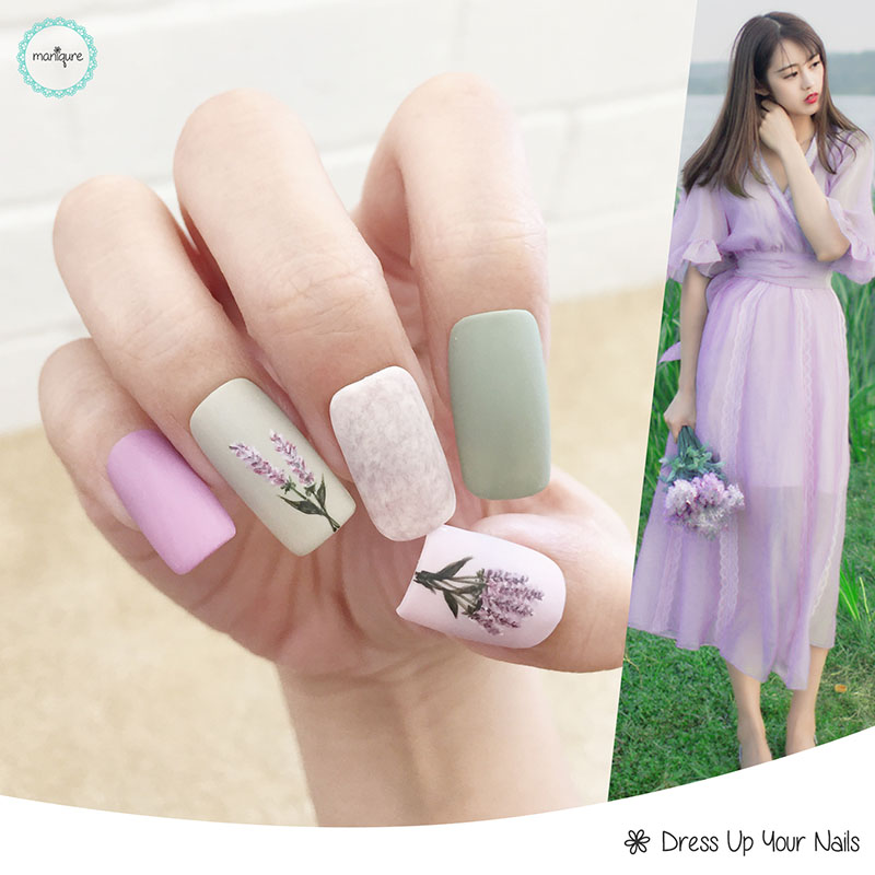 Spring Floral Manicure Nail Art 2