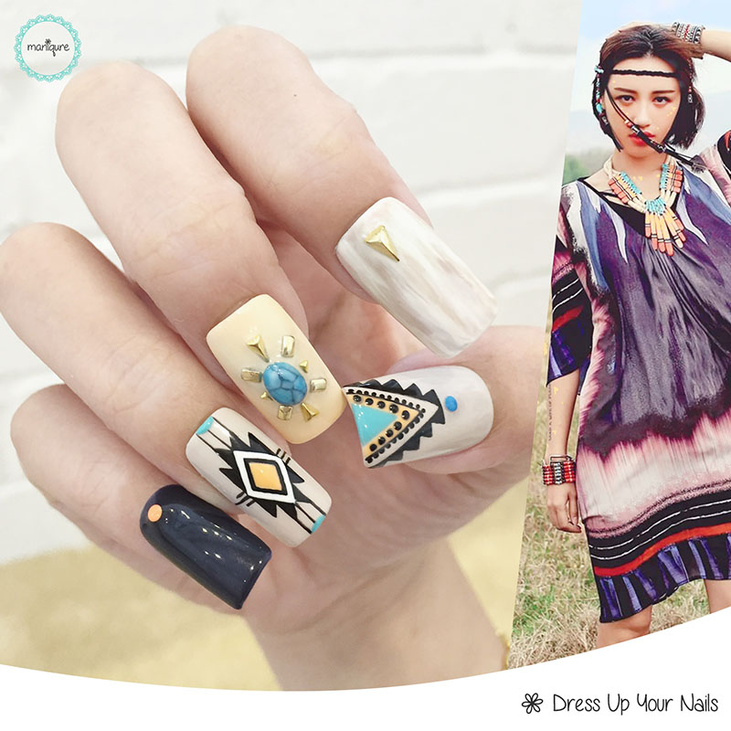 Tribal Manicure Nail Art