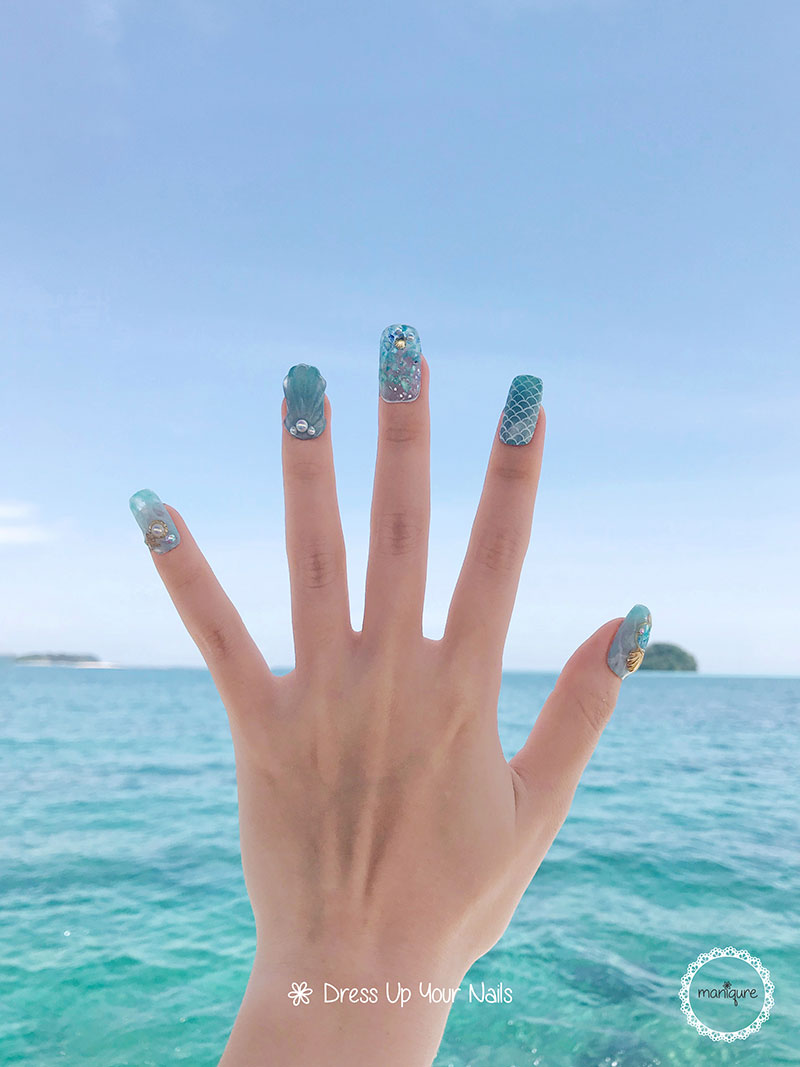 Sabah Nails - Travel Themed Manicure - Maniqure Nail Salon