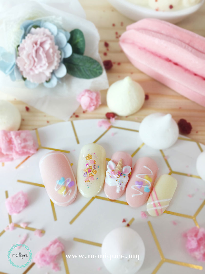 Unicorn Milkshake Pastel Nails