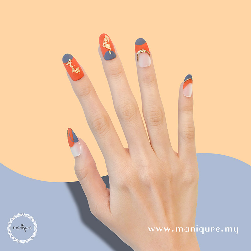 Freeform Sunset Orange Nails