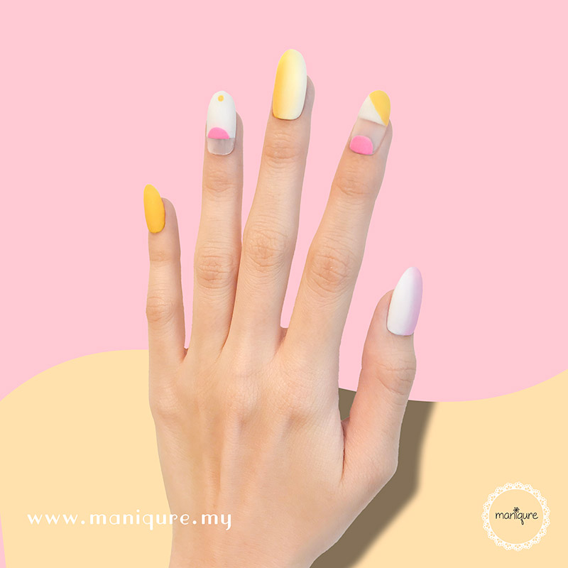 Morning Glory Yellow Pink Nails