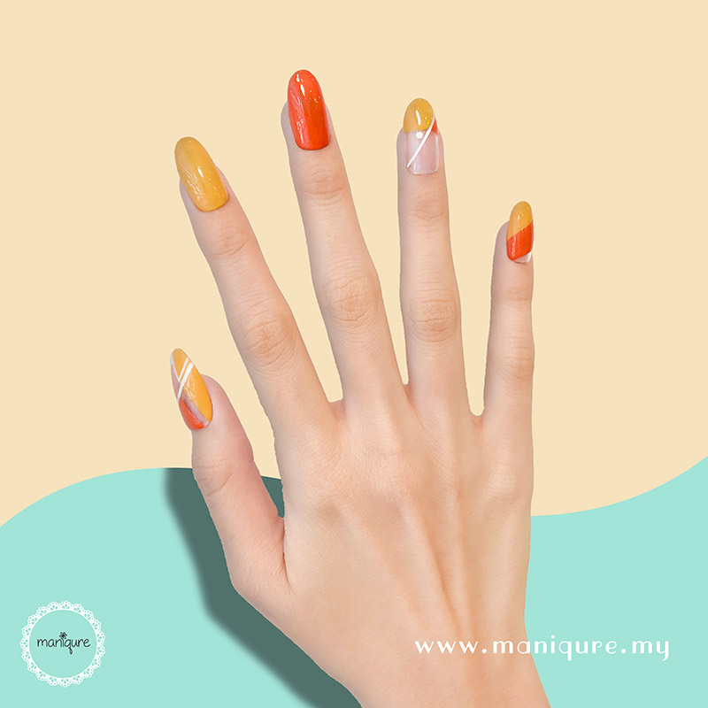 Summer City Beach Orange Nails