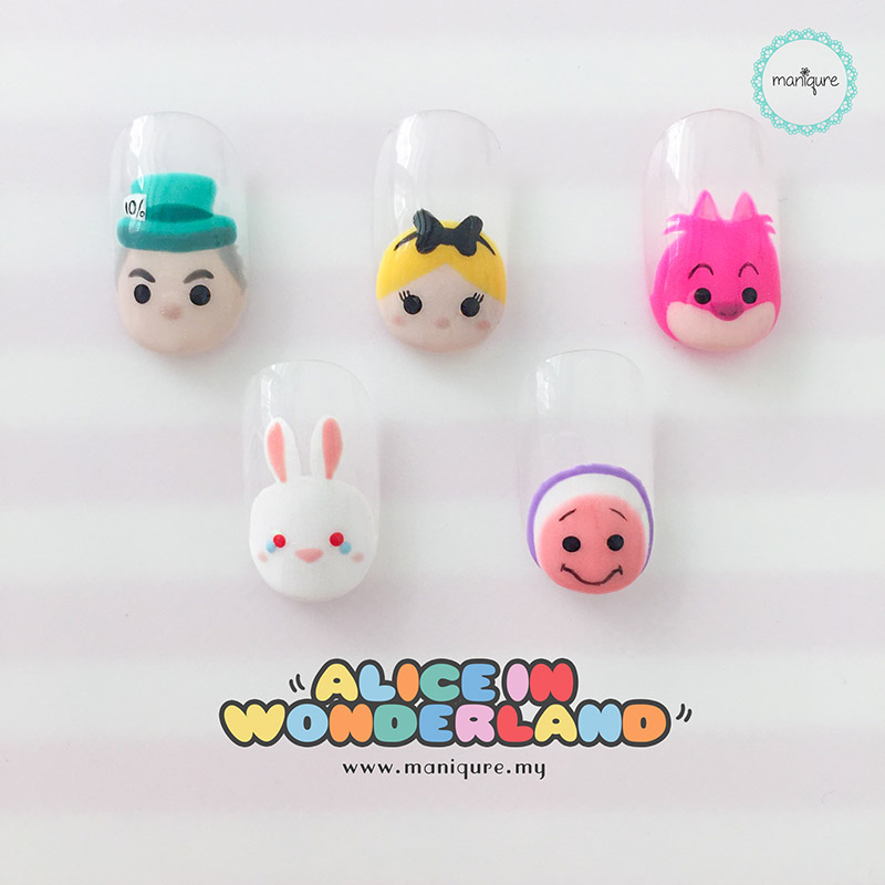 Alice In Wonderland Tsum Tsum Nails