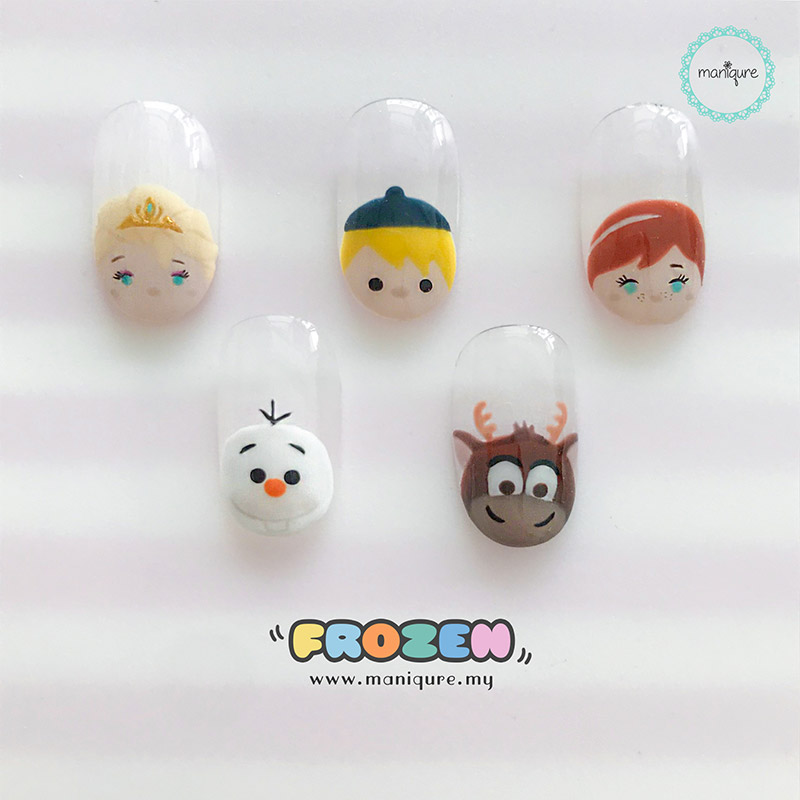Frozen Tsum Tsum Nails