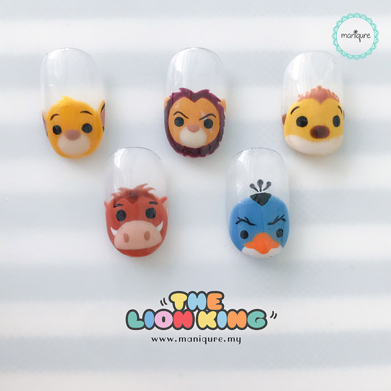 The Lion King Tsum Tsum Nails