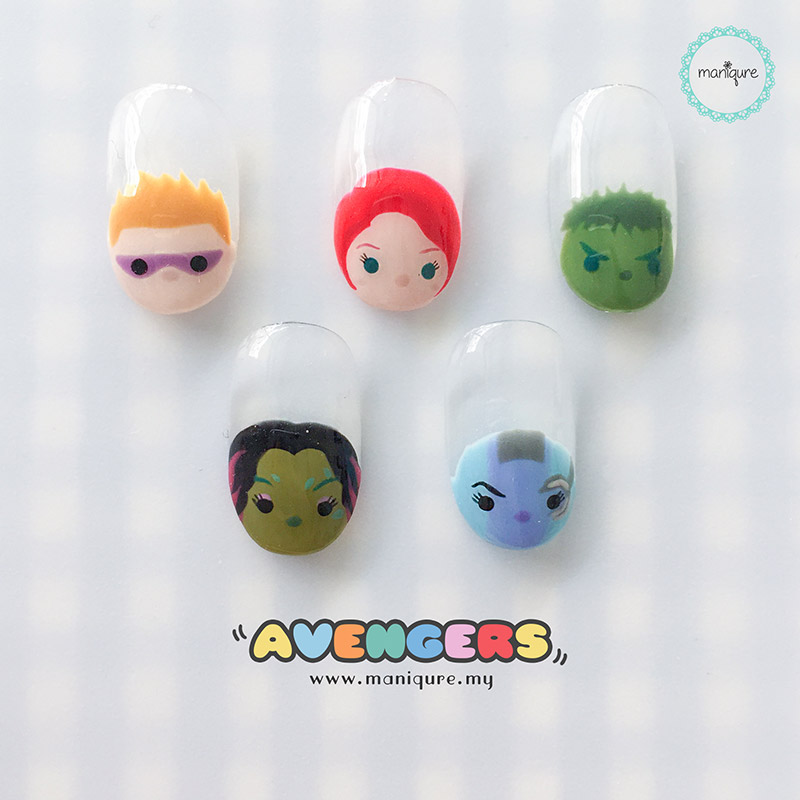 Marvel Avengers Tsum Tsum Nails