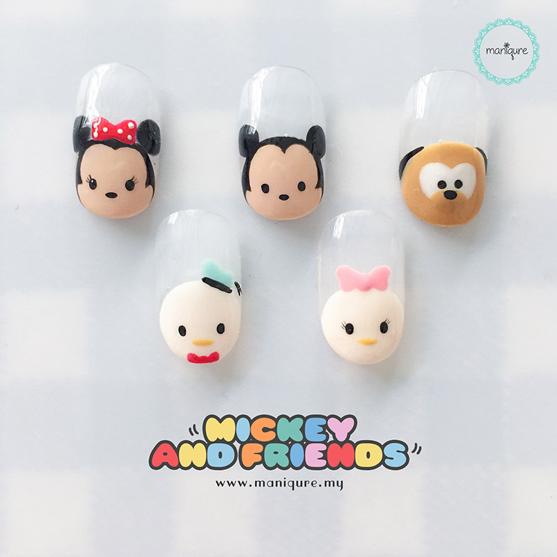 Mickey And Friends Tsum Tsum Nails