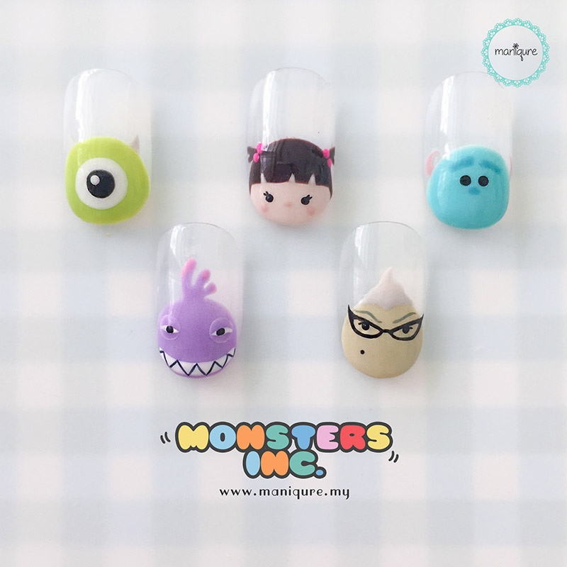Monsters Inc Tsum Tsum Nails