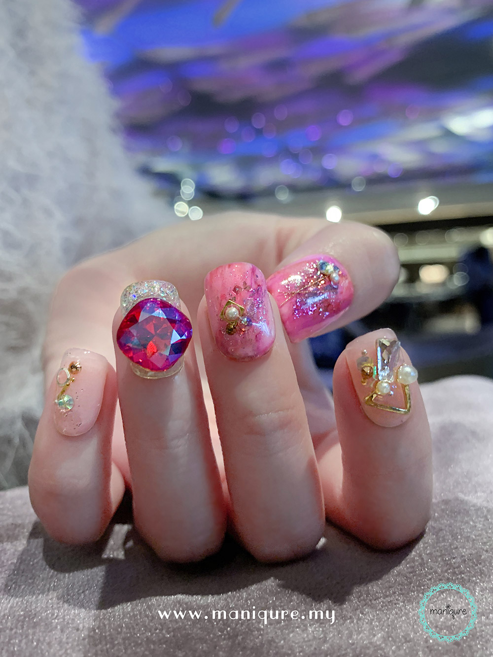 Astrology Marble Nails – Galaxy Manicure