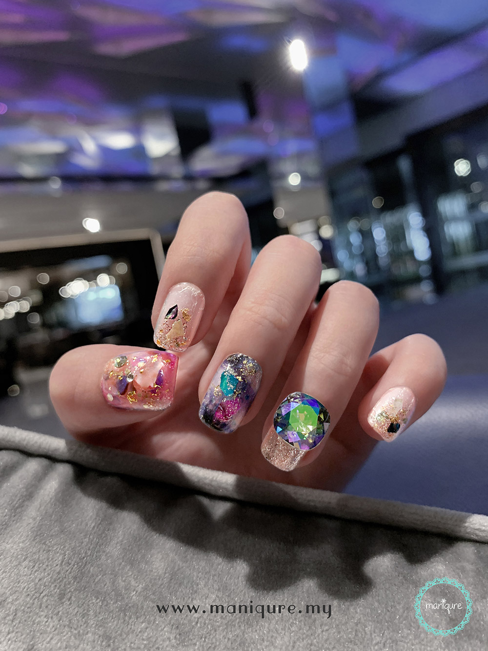 Cosmology Marble Nails - Galaxy Manicure