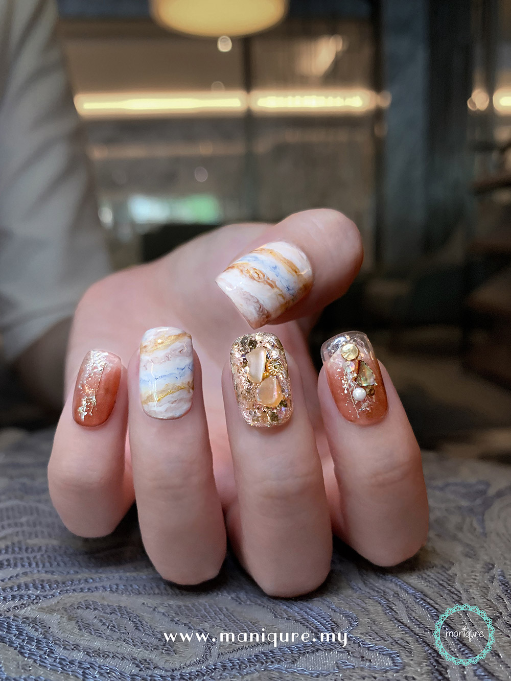 Jupiter Marble Nails – Planet Manicure