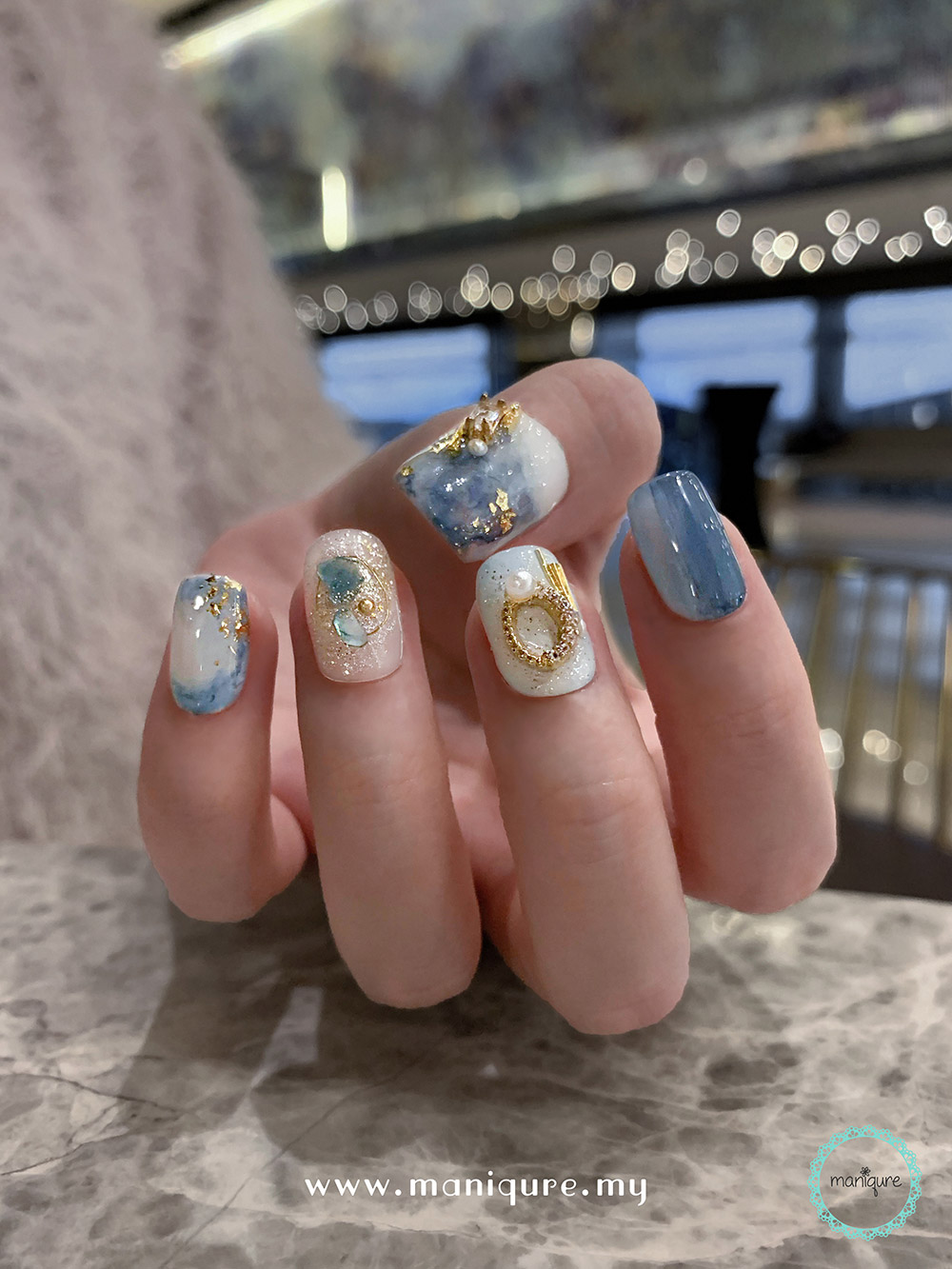 Solar System Marble Nails – Galaxy Manicure