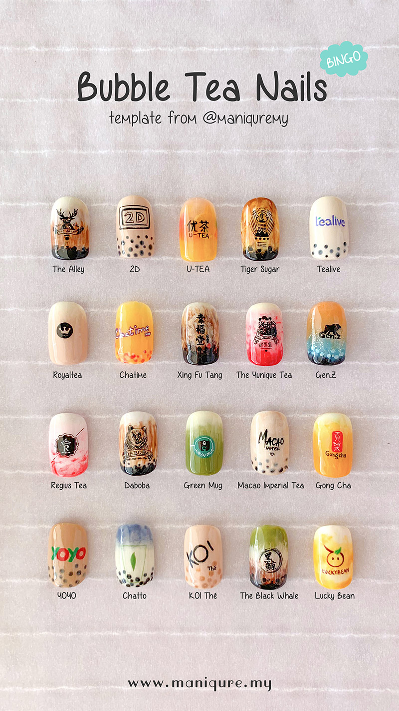 Bubble Tea Nails - Bingo!