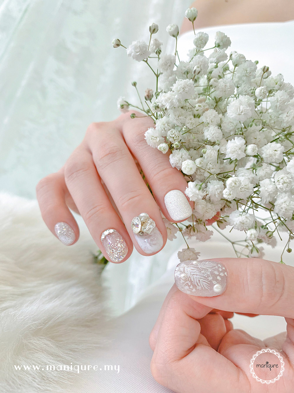 Baby Breath Nails 满天星美甲