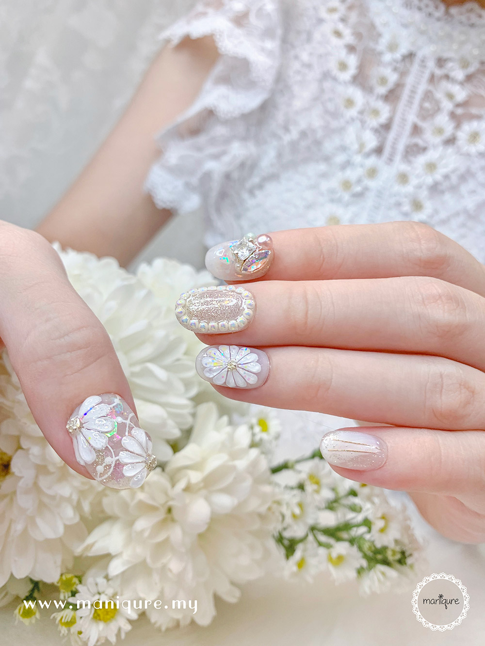 Daisy Nails 雏菊美甲