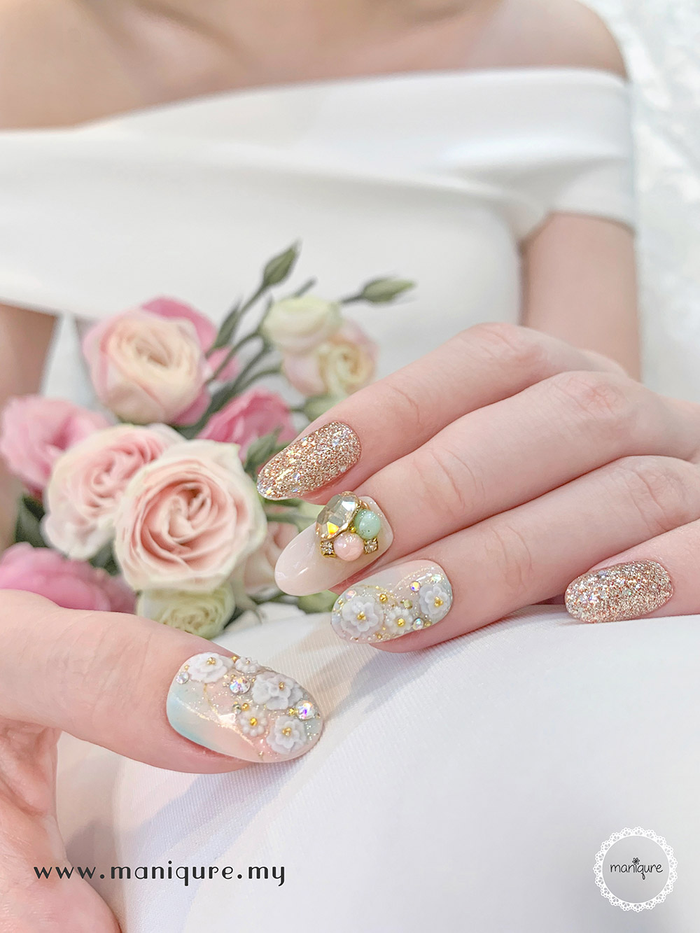 Eustoma Nails 洋桔梗美甲