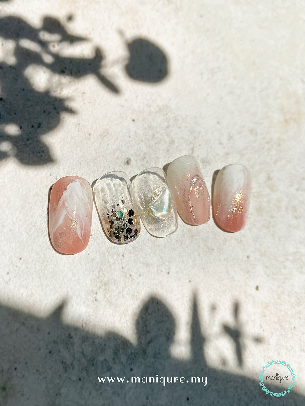 Good Vibes - Marble Stone Nails