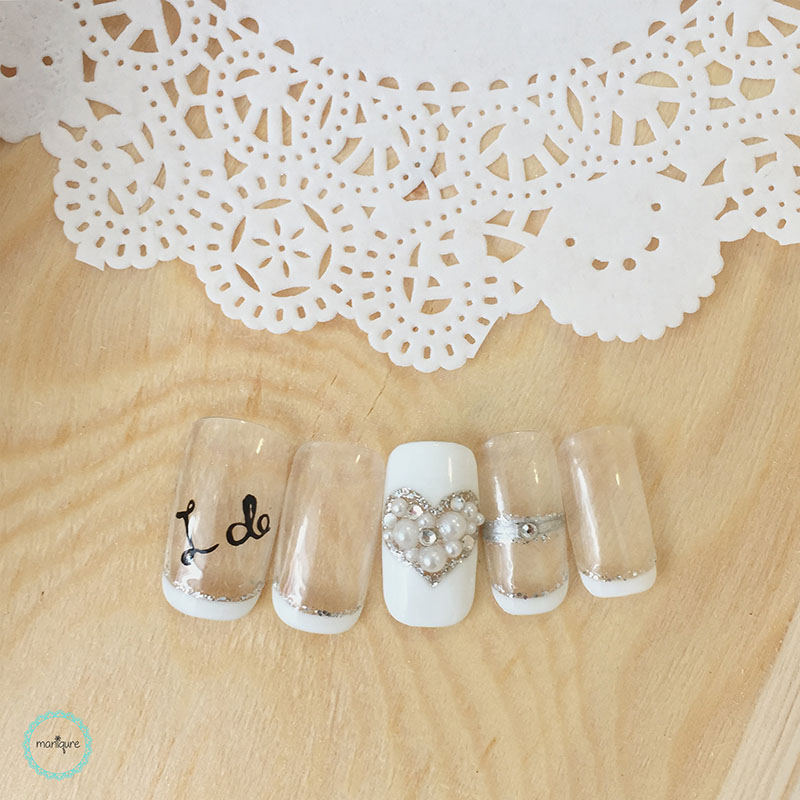 Bride-to-Be Nails Wedding Bridal Manicure 12
