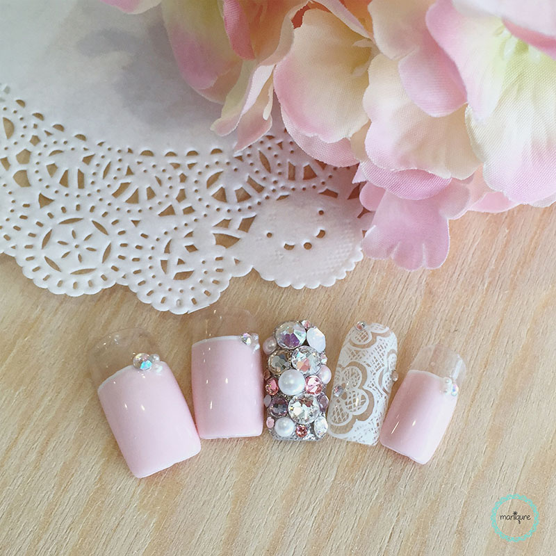 Bride-to-Be Nails Wedding Bridal Manicure 14