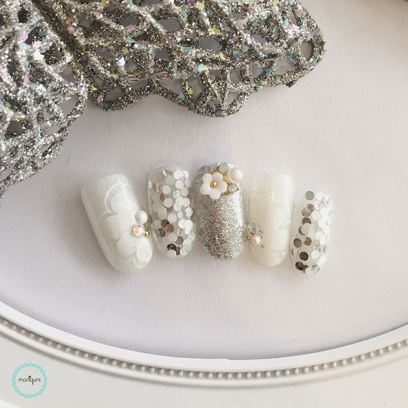 Bride-to-Be Nails Wedding Bridal Manicure 15