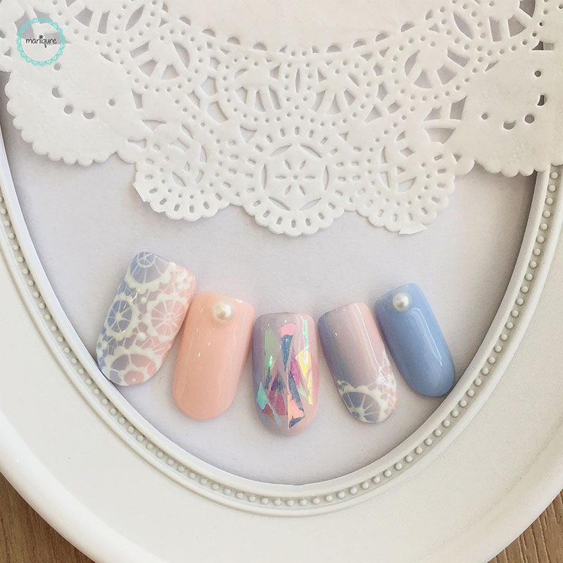 Bride-to-Be Nails Wedding Bridal Manicure 17
