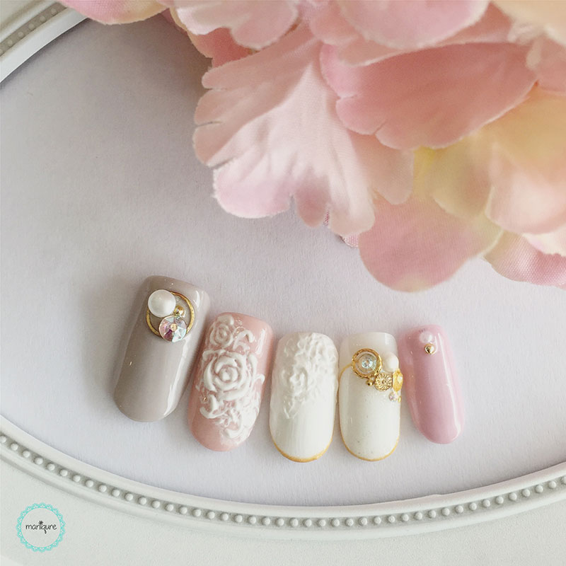 Bride-to-Be Nails Wedding Bridal Manicure 2