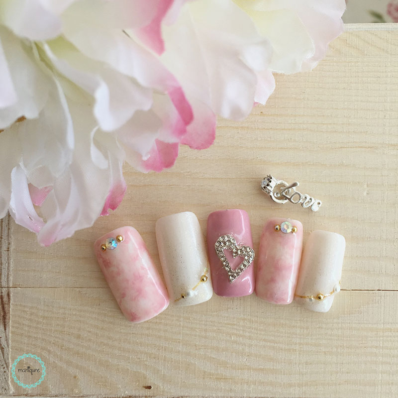 Bride-to-Be Nails Wedding Bridal Manicure 23