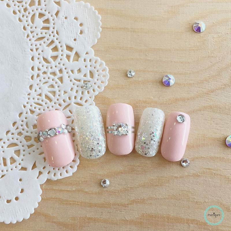 Bride-to-Be Nails Wedding Bridal Manicure 4